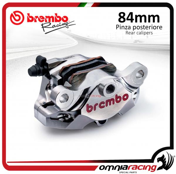 Brembo Racing pinza freno posteriore Supersport CNC P2 34 Interasse 84 mm nichelata Aprila/Ducati