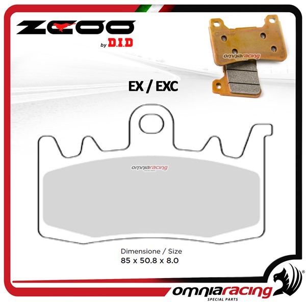 ZCOO B007 EX Front sinterized brake calipers for BMW XR1000 2015>