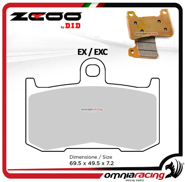 ZCOO N005 EX Front sinterized brake calipers for Triumph Daytona 675 2006>2008