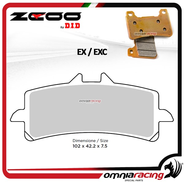 ZCOO B005 EX Front sinterized brake calipers for Triumph Daytona Triple 675R 2013>2014