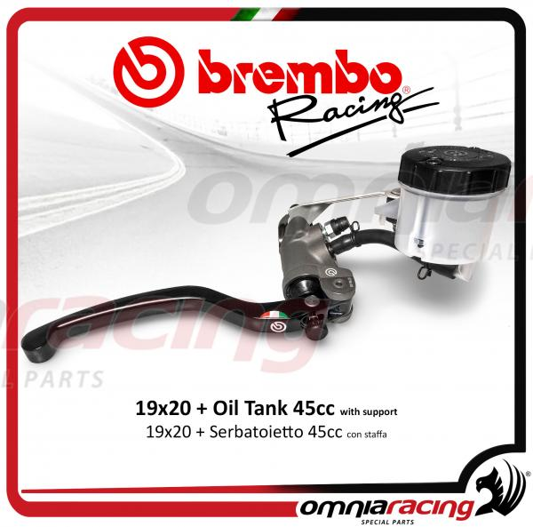 Brembo Racing pompa freno anteriore radiale 19X20 forgiata con switch e kit serbatoio olio