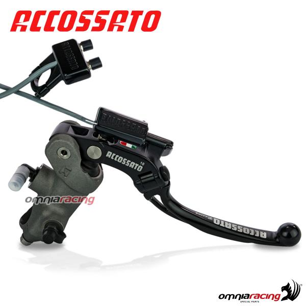 Kita1 Brake Master Cylinder Accossato 19x18 With Adjule Long Lever Electric Remote Adjuster