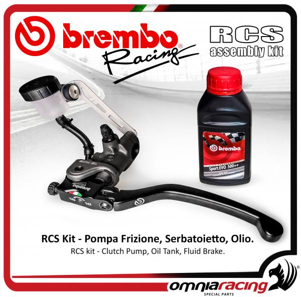 Brembo Racing - Kit Radial Clutch Pump RCS 16, Tank Oil and support, Brake Fluid Dot 4