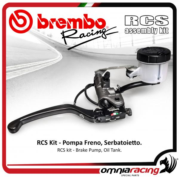 Brembo Racing - Kit Radial Brake Pump RCS 19 with reservoir oil tank and support