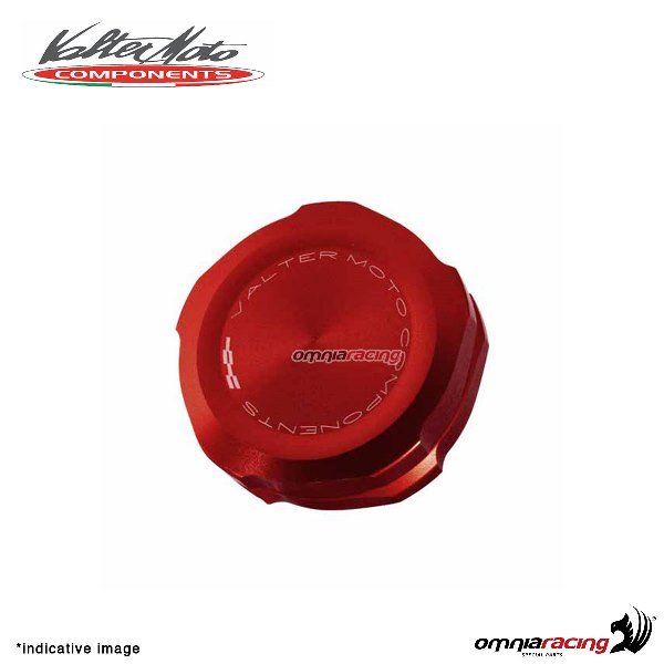 Front brake tank reservoir cap Valtermoto red color for Triumph Daytona 675 2006>2016