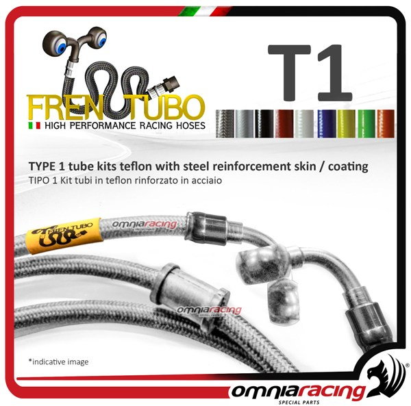 Frentubo brake hose aeronautical braided type 1 in steel Honda HORNET 600/600S 2005>2006 Diretti