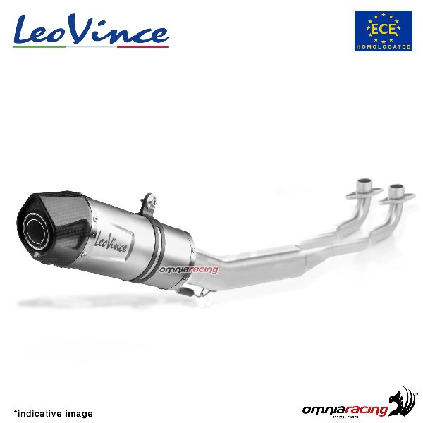 leovince full exhaust system lv one evo steel homologated for yamaha r25 2014 2018