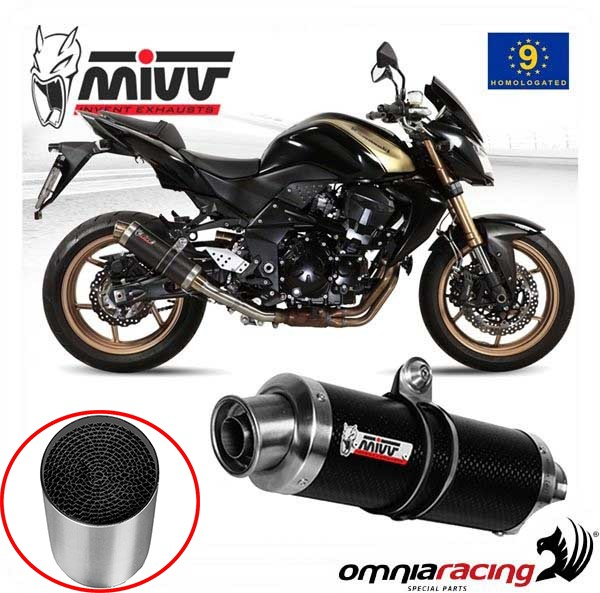 Approved Catalysed Exhaust Mivv Oval Carbon Carbon Cap