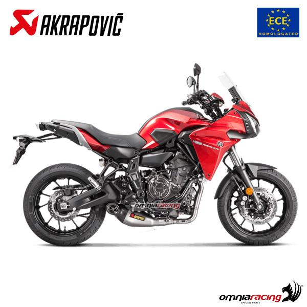 Akrapovic full exhaust system approved titanium for Yamaha MT07 Tracer 700  2016>