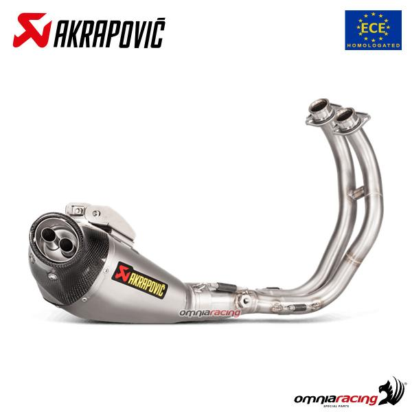 Akrapovic full exhaust system approved titanium for Yamaha MT07 / FZ07 2014>