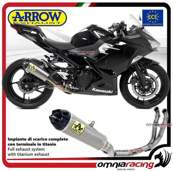 Arrow full exhaust system competition full titanium silencer and collectors  Kawasaki Ninja 400 2018>