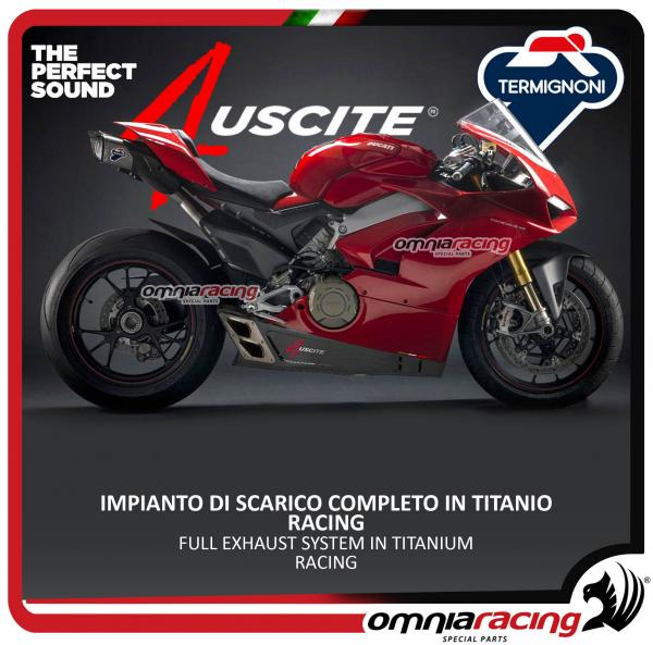 Termignoni High Full Exhaust System Titanium Slip On Racing 4 Uscite