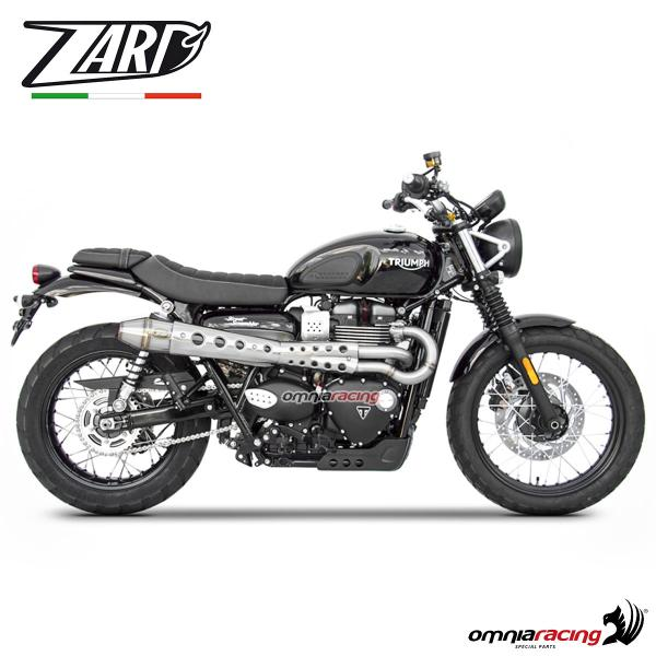 Zard full exhaust system steel silencer non homologated for Triumph Scrambler 900