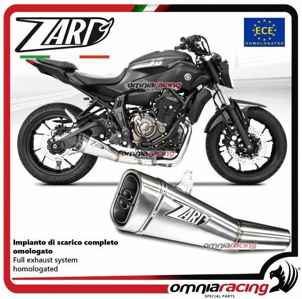 Zard full exhaust system steel silencer EURO4 homologated for Yamaha MT07  2018>