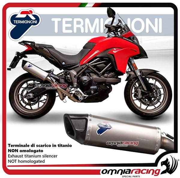 Termignoni FORCE full exhaust system in titanium racing for Ducati  MULTISTRADA 950 2016>