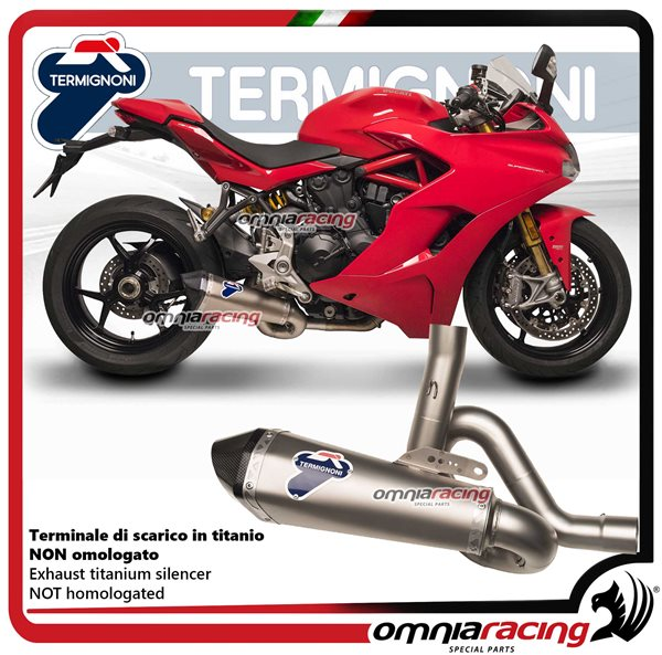 Termignoni SCREAM terminale di scarico in titanio racing per Ducati SuperSport 939 2017>