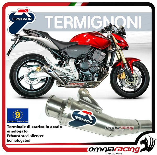 Termignoni CONICAL inox exhaust slip-on homologated for Honda HORNET 600 2007>2013