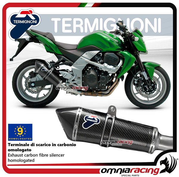 Termignoni CONICAL exhaust slip-on in carbon homologated catalyzed for  Kawasaki Z750 2007>2011