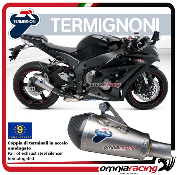 Termignoni Relevance Inox Exhaust Slip On Homologated For Kawasaki