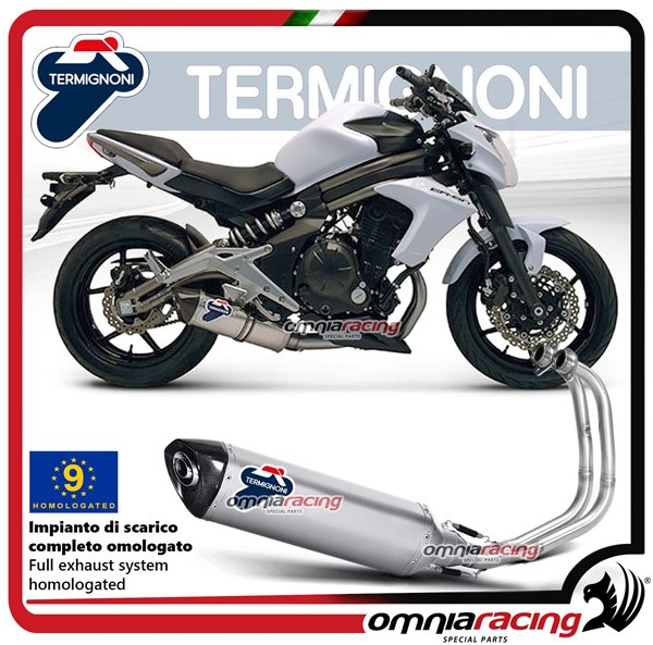 Termignoni Oval Homologated Full Exhaust System 4x2x1 Steel Carbon
