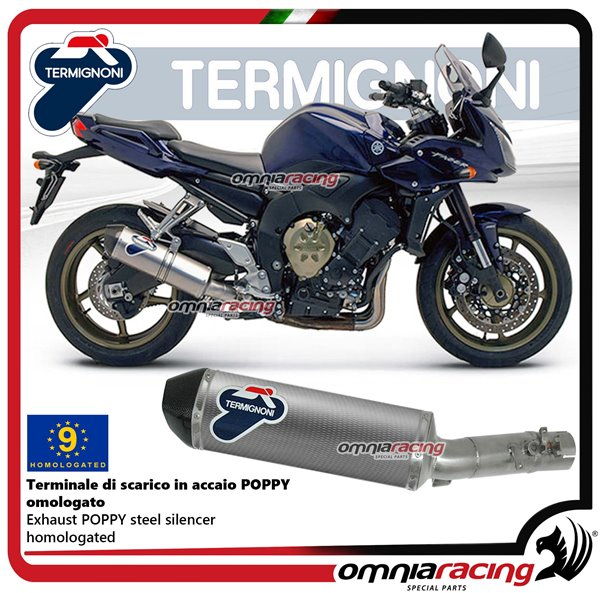Termignoni Relevance Exhaust System Logated Steel Frame Poppy Carbon Yamaha Fz1 11 14 Y098080inv