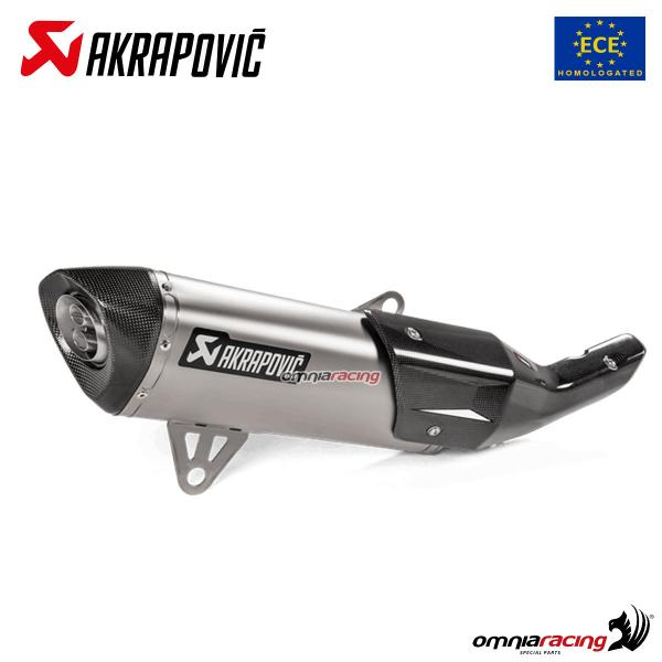 Akrapovic Exhaust Euro4 Approved Titanium For Bmw C400x C400gt 2019 S B4so2 Hrt Silencers Exhaust