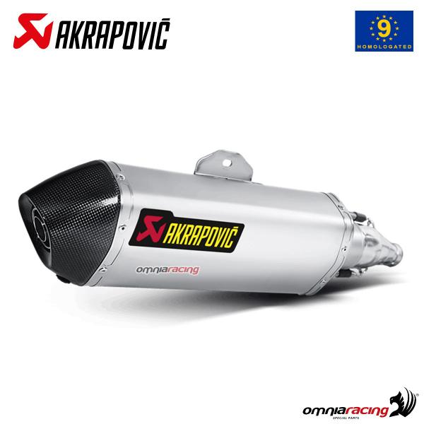 Akrapovic exhaust approved steel for Honda SH300i 2007>2015