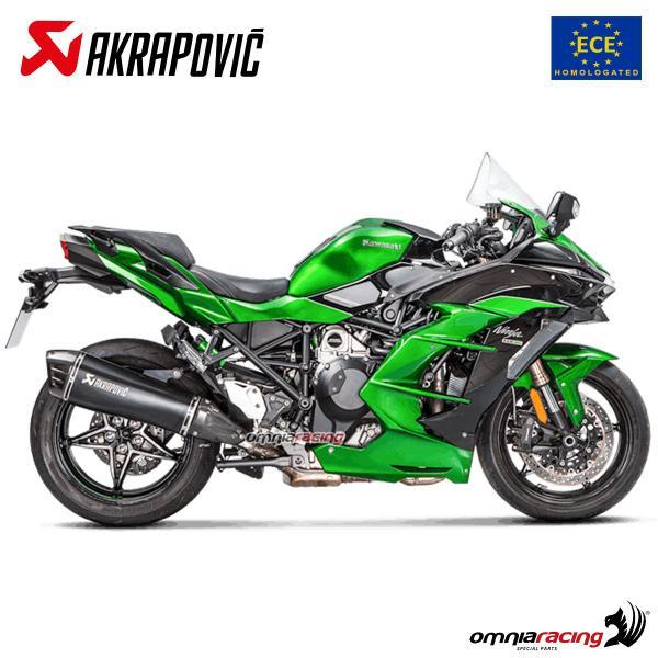 Akrapovic exhaust Euro4 approved titanium for Kawasaki Ninja H2SX 2018>
