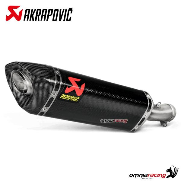 Akrapovic exhaust racing carbon fibre for Kawasaki Ninja 400 2018>