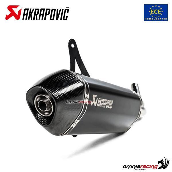 Akrapovic exhaust Euro4 approved steel black for Piaggio Vespa GTS300 /  GTV300 2017>