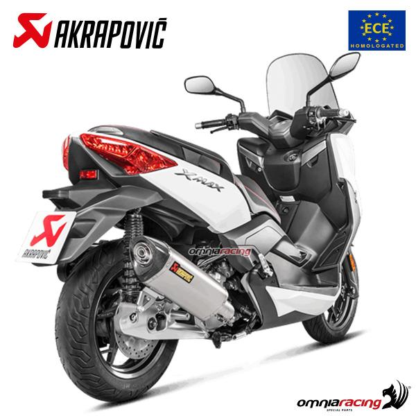 Akrapovic exhaust Euro4 approved steel for Yamaha XMax 125 2017>