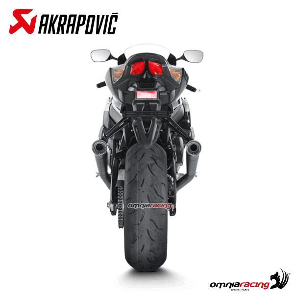 Akrapovic pair of exhaust racing titanium for Suzuki GSXR1000 K9 2009>2011