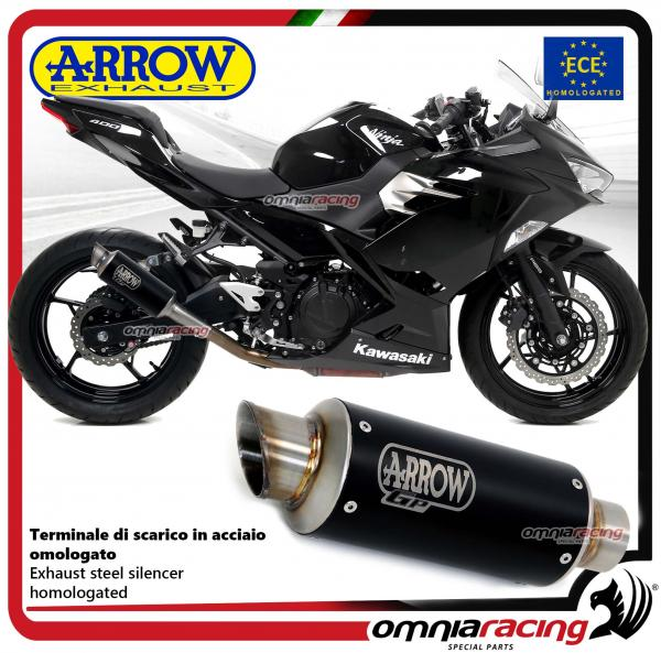 Arrow Exhaust Gp2 Slipon Steel Black Silencer Homologated For