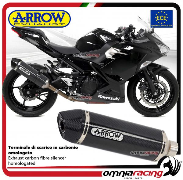 Details about Arrow Race-Tech exhaust carbon approved Kawasaki Ninja 400  2018>