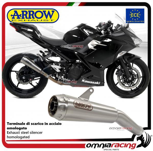 Arrow Pro Race Exhaust Slipon Steel Silencer Homologated For