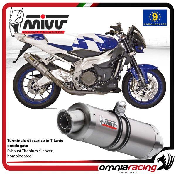 MIVV GP pair of exhaust homologated titanium for APRILIA TUONO Fighter 1000  2006>2010