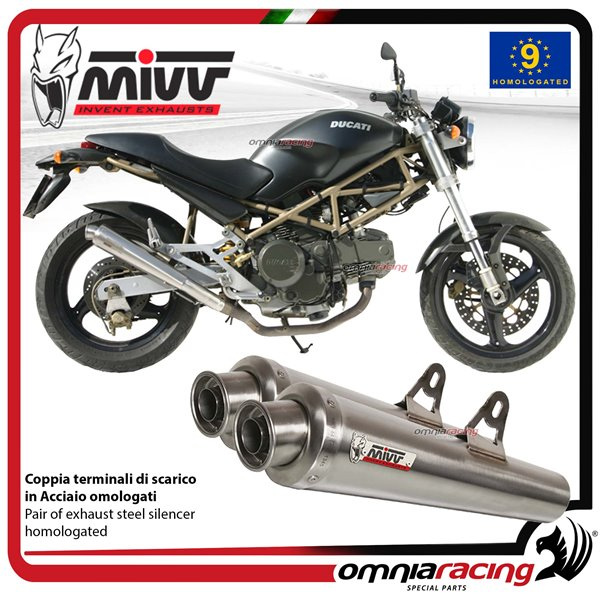 Mivv X Cone Steel Homologated 2 Slip On Exhaust Silencers For Ducati