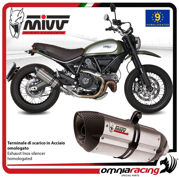 Mivv Suono Stainless Steel Inox Slip On Exhaust Homologated For