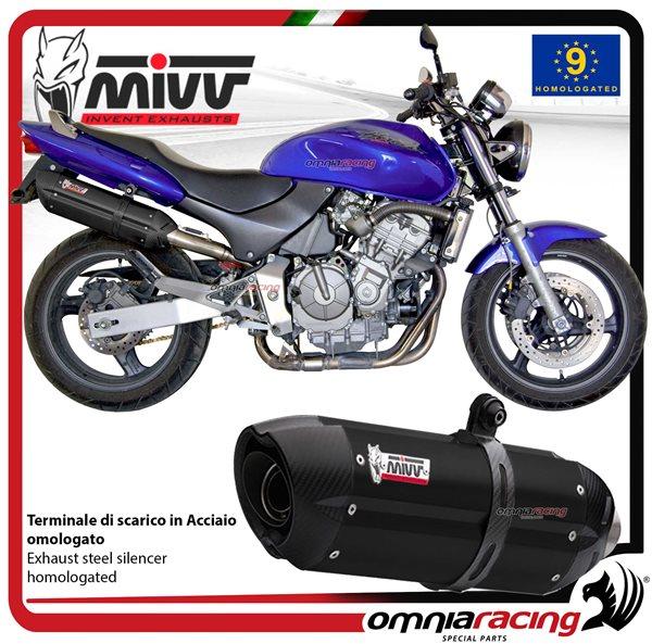 Mivv Suono Exhaust Slip On Homologated Black Inox For Honda Hornet