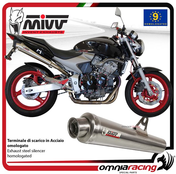 MIVV X-Cone exhaust slip-on homologated inox for HONDA HORNET 600 2003>2006