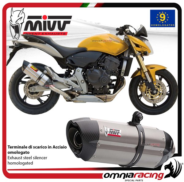 MIVV SUONO exhaust slip-on homologated inox for HONDA HORNET 600 2007>