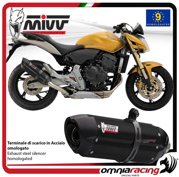 Mivv Suono Steel Black Slip On Exhaust System For Honda Cbr 600 F
