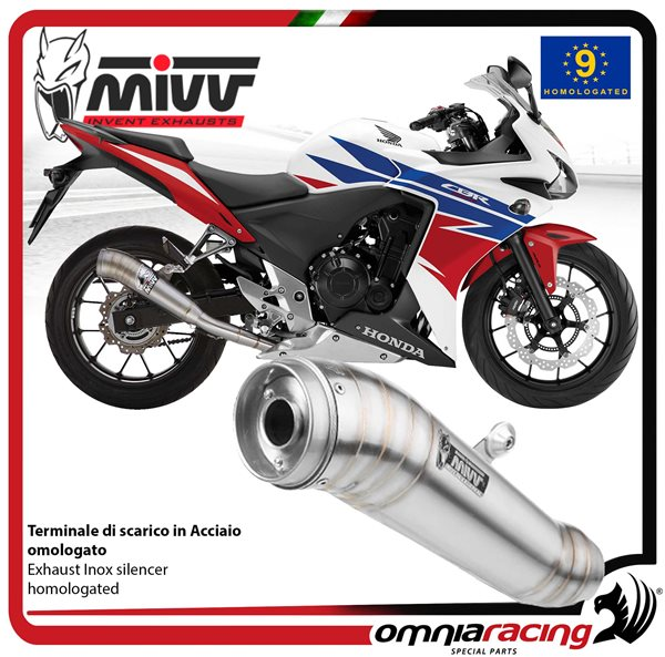 Motorcycle Exhaust System Pipe Slip-On For Honda CBR500R 2013-2015 Model A