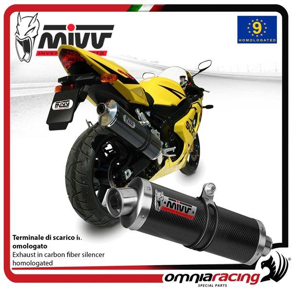 MIVV OVAL exhaust slip-on homologated carbon for SUZUKI GSXR600 2004>2005