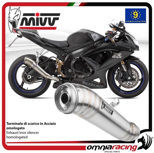 MIVV GHIBLI exhaust slip-on homologated inox for SUZUKI GSXR750 2008>2010