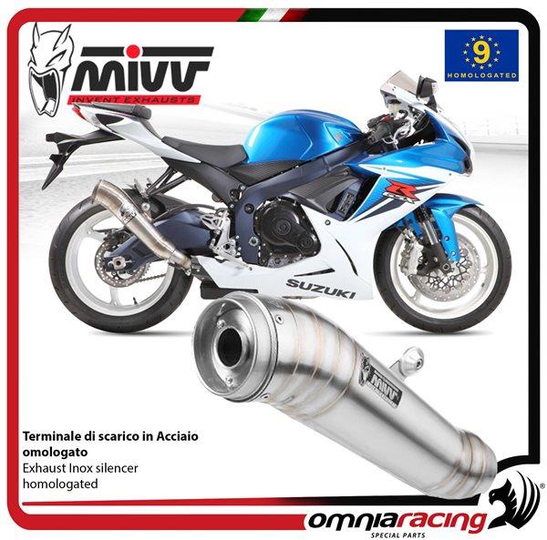 MIVV GHIBLI exhaust slip-on homologated inox for SUZUKI GSXR600 2011>