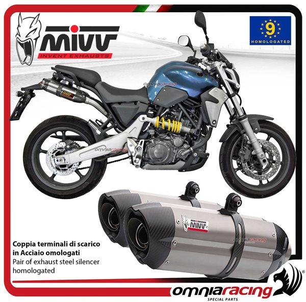 מבריק Mivv Suono Stainless Steel Exhausts for Yamaha Mt-03 Mt03 660 2006 NQ-95