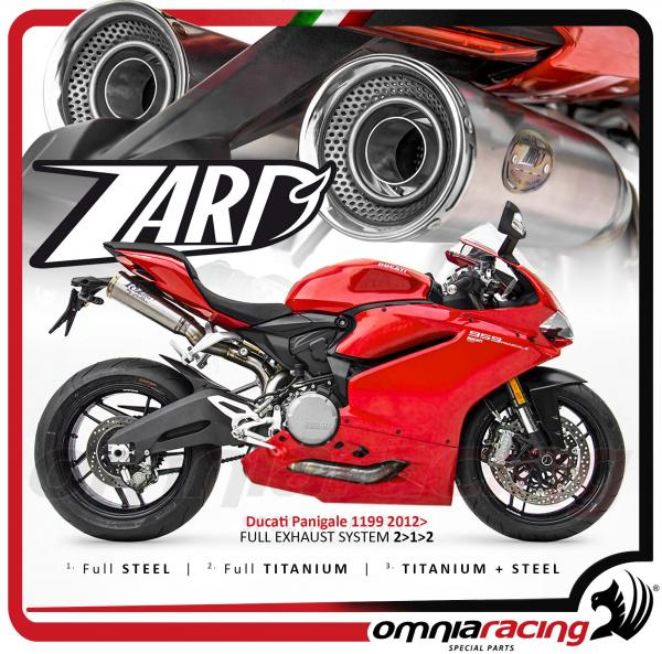 Zard Full Exhaust System Racing 2 1 2 Titanium For Ducati 959 Panigale 2016 16 Zd959tkr Silencers