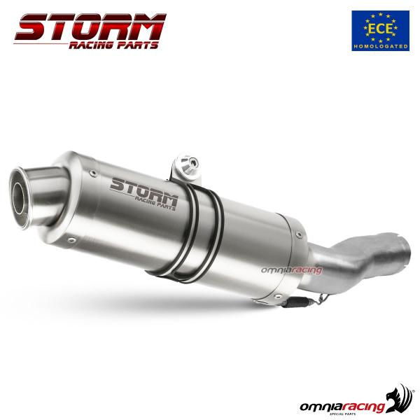 Storm GP stainless steel exhaust slip-on homologated for HONDA HORNET 600 2007>2013