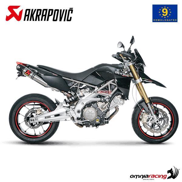 Akrapovic pair of exhaust approved titanium for Aprilia Dorsoduro 750  2008>2016